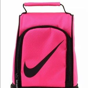 Sold! Nike Hot Pink Black Insulated Lunch Pail Bag